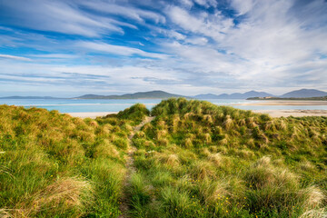 Wall Mural - The sand dunes and machair at Seilebost