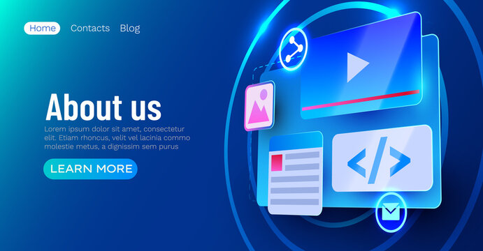 Web site ui element banner. Web development concept.