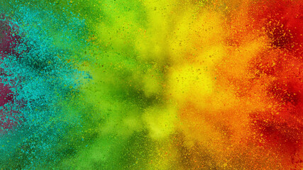 Fototapete - Colorful abstract powder background with color spectrum