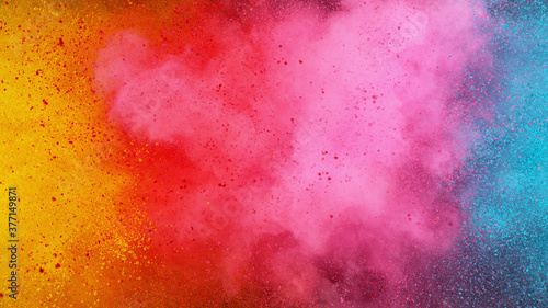 Fototapete Colorful abstract powder background with color spectrum