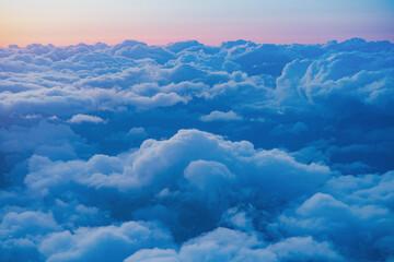 旅客機の窓からの夕景 Fotobehang