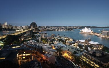 Fotomurales - Aerial view of Sydney with Harbour Bridge, Australia