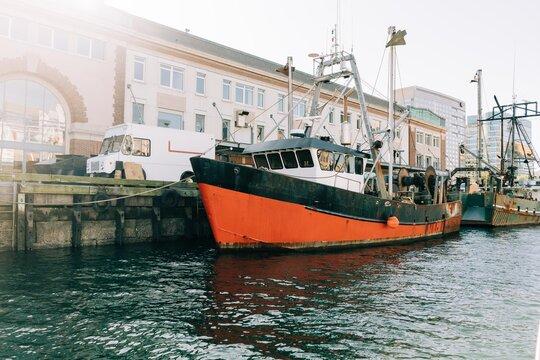 fishing boat Boston harbour