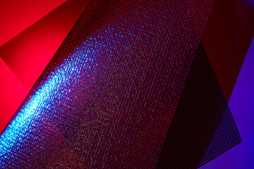 Abstract Dreamy Concept Image with Mesh Fabric