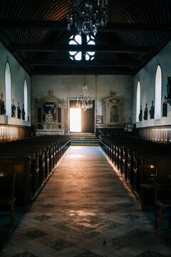 inside a Catholic Church