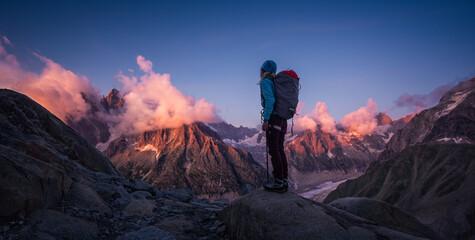 Mountaineer admiring the Mountains