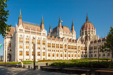"""BUDAPEST, HUNGARY - JUNE 16, 2016: Hungarian Parliament building called """"House of the Country"""" - Budapest, Hungary"""