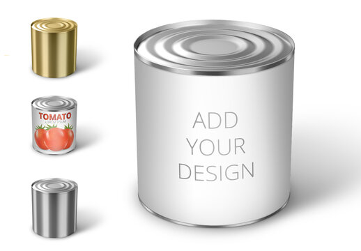 3D Package Preview Mockup of Conserve Can
