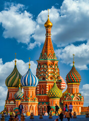Moscow, Russian Fedration/ September 8, 2020;St. Basil's Cathedral on Red Square