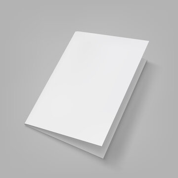 Brochure blank white template for mock up and presentation design.Vector illustration.