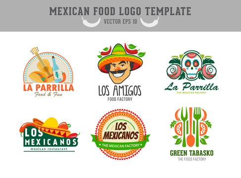 Mexican food logo. Vector logo design template