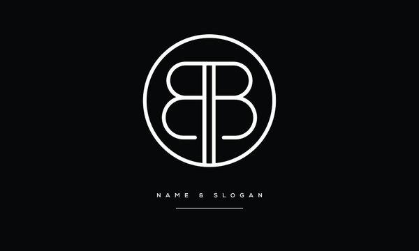 B,BB  Abstract Letters Logo Monogram