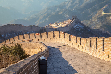 The Great wall of China at Badaling site in Beijing, China