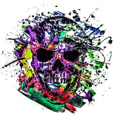 grunge skull with pattern