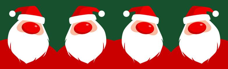 Verrückte Weihnachtsmänner als Bordüre