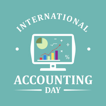 International accounting day design banner template