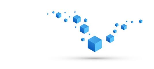 cubi, costruzioni, concetto, 3d, pixel