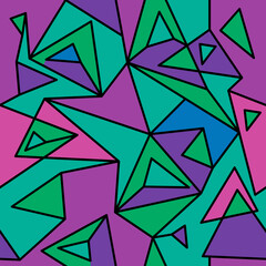 Fragment of geometric cubism, Abstract seamless pattern 3.3.