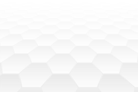 hexagonal shape 3d perspective style white background design