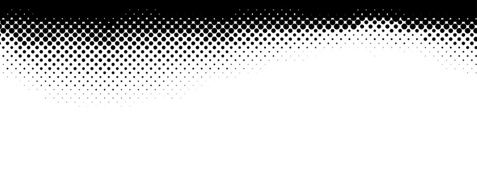 Abstract halftone monochrome dotted pattern.