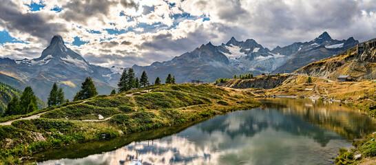 Leisee lake near Zermatt in Switzerland