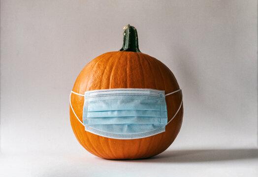 Covid Pandemic Halloween Pumpkin