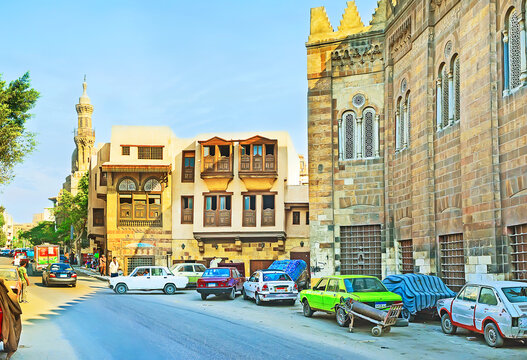 The arabic mansions in Shaykhu street, on Oct 9, 214 in Cairo, Egypt