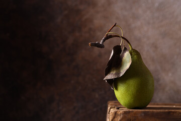 still life ripe organic fruit pear