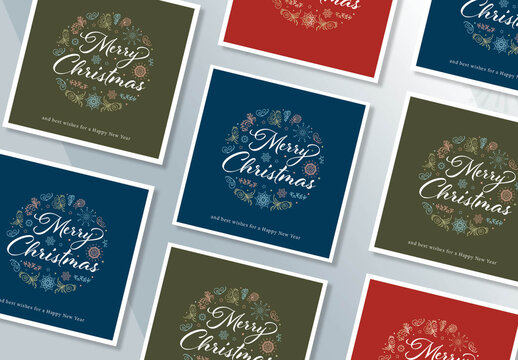 Christmas Cards Layout Set