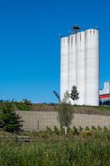 Getreidesilos in Heilbronn