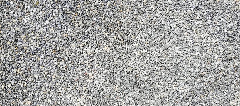 texture of gravel stones on ground background