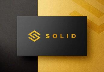 Gold Foil Pressed Business Card