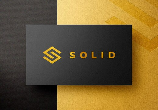 Gold Foil Pressed Business Card