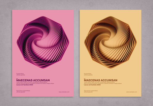 Vortex Minimalistic 3D Poster Design Layout