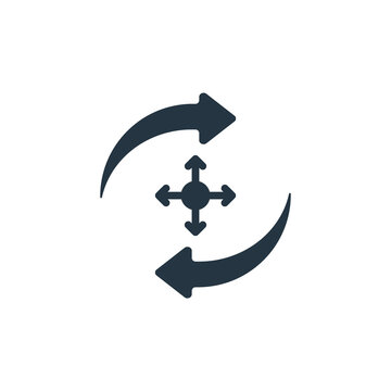 deployment icon. Glyph deployment icon for website design and mobile, app development, print. deployment icon from filled microservices collection isolated on white background..