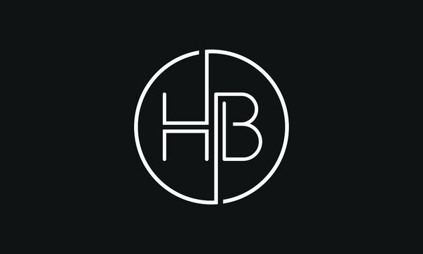 HB,BH ,H B,  Abstract Letters Logo Monogram