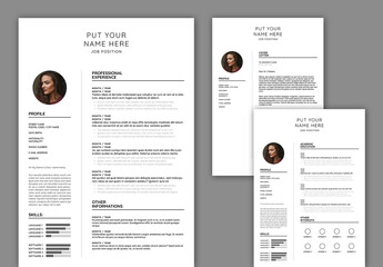 Curriculum Vitae and Cover Letter Layout