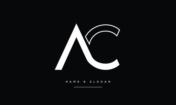 AC,CA ,A ,C  Abstract Letters Logo Monogram