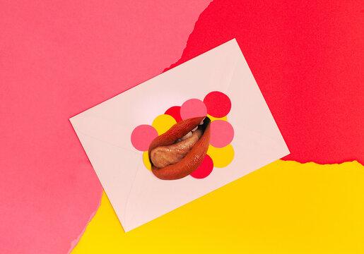 lips on envelope