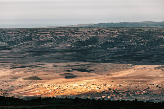 Partial Sunshine in Moroccan Desert