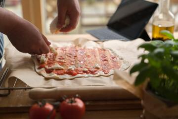 Following Internet Pizza Recipe