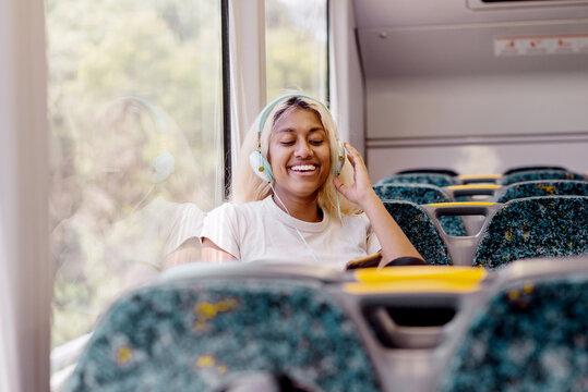 woman on train