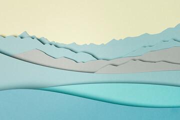 Paper background landscape