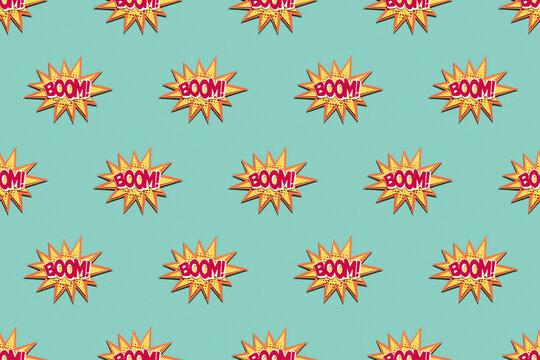 "BOOM"""" Pattern design"