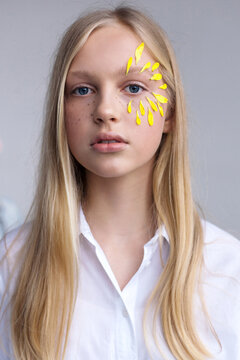 Pretty teen girl studio portrait