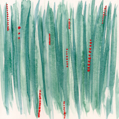 Vertical Stripe Abstract Watercolor Painting