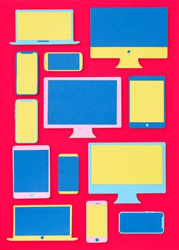 People communicating on internet