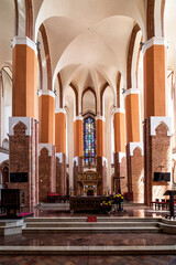 The Cathedral Basilica of St James the Apostle in the old town of Szczecin, Poland