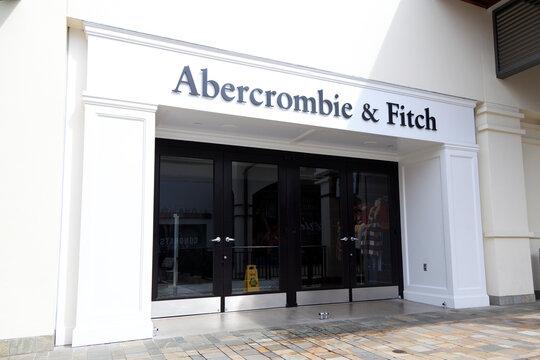 Honolulu, Hawaii, U.S.A. - Abercrombie & Fitch: facade of Abercrombie & Fitch in Ala Moana Center