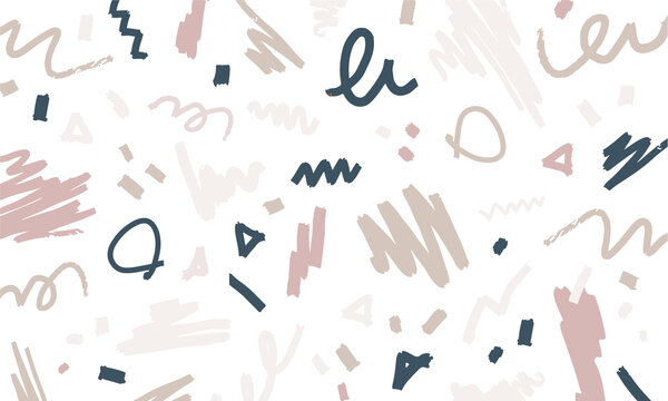 手描き・フリーハンドのパターン素材